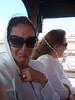 Holmes as an alien grandma on a trolley tour of San Diego