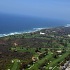 Aerial View of beautiful Torrey Pines South Golf Course, home of the 2008 US Open Tournament.