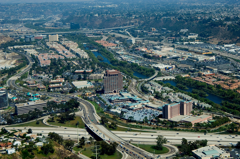 Aerial view of Mission Valley, San Diego, California