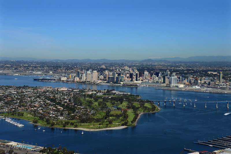 Aerial Photo of the Coronado Golf Course and San Diego Bay