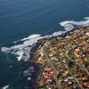Aerial view of La Jolla, California coastline near San Diego.