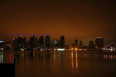 San Diego Bay Night shots