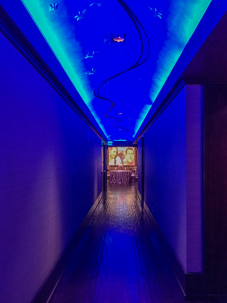 Hallway to party room at Bombay Restaurant