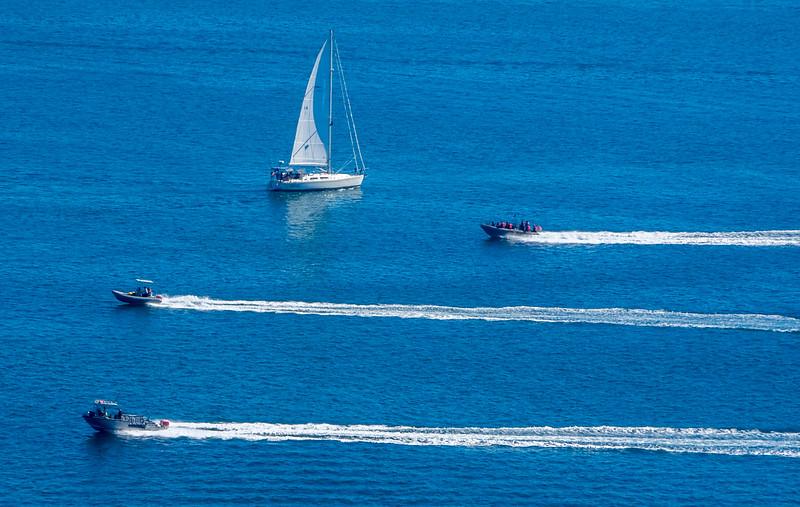 Stripes on the sea