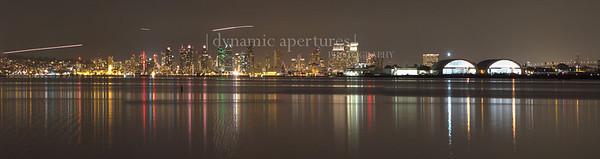 San Diego, CA Nighttime Cityscape Panorama