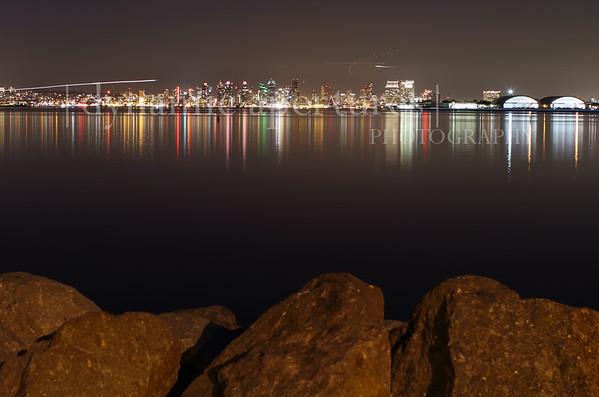 San Diego, CA Nighttime Cityscape