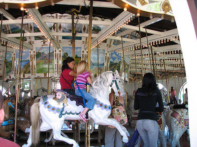 Seaport Village - San Diego. Historic 1895 carousel.