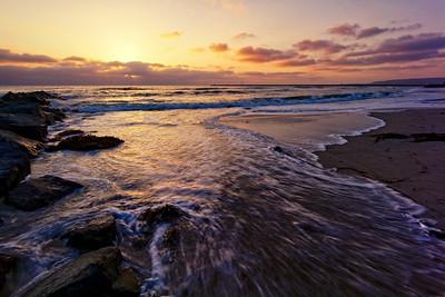 Rocks called Avalanche; Ocean beach San Diego
