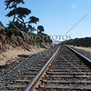Railroad track in Del Mar, California.