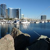 A view from the Embarcadero Marina Park in San Diego, California.