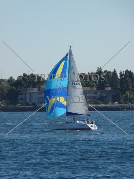 Sailboat in San Diego, California.