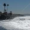 The shore near the Dog Beach in Del Mar, California.