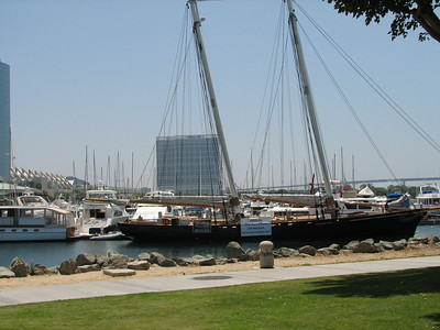 Seaport Village - San Diego. Boat dock