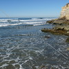 The shore near the Dog Beach in Del Mar, California.