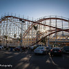 Roller coaster at Belmont Park