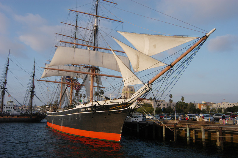 Built in 1863, The Star of India is the world's oldest active ship, at home on the embarcadero in San Diego, California.