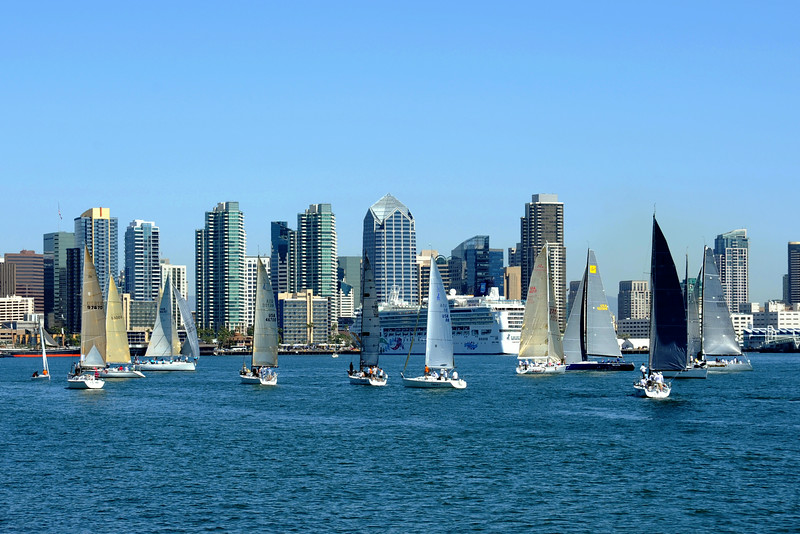 Great afternoon for sailing on San Diego Bay