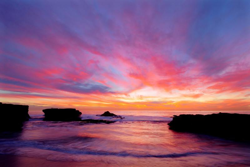 Wonderful sunset from Ocean Beach, in San Diego, California.