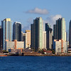 San Diego skyline and embarcadero as seen from Harbor Island.