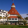 The Hotel Del Coronado on a beautiful day, across the bay from San Diego.
