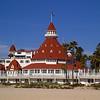 The Hotel Del Coronado, located on the beach in Coronado, California.