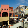 The colorful, vibrant, Horton Plaza shopping mall in downtown San Diego.
