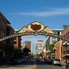 Entrance to the historic Gaslamp Quarter in downtown San Diego, California.