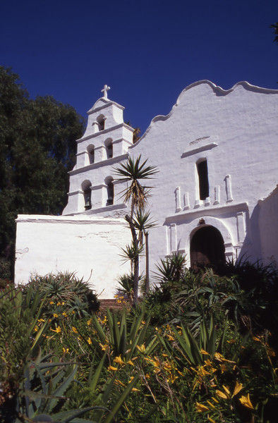Mission San Diego de Alcala, founded in 1769, in San Diego, California.