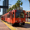 The San Diego trolley at the Gaslamp Quarter stop, near the Convention Center and Petco Park.