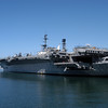 The USS Midway aircraft carrier museum on the embarcadero in San Diego, California.