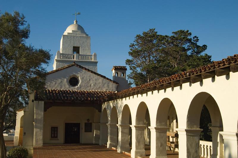 The historic Serra Museum in Presidio Park, San Diego, California.