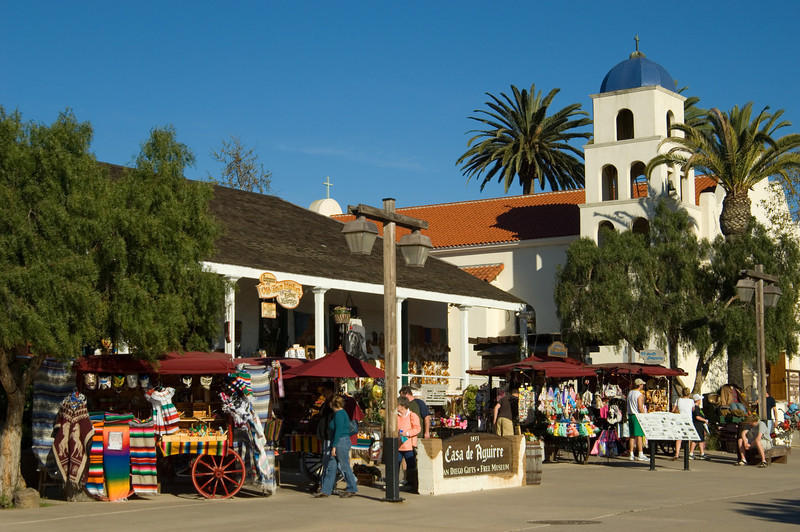 Colorful Old Town San Diego State Historic Park.