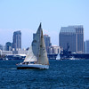 Sailing in San Diego harbor during the Festival of Sail.