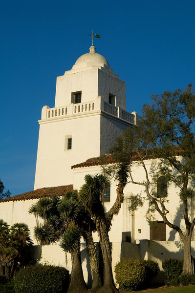 The tower of the Serra Museum in Presidio Park, San Diego, Californis.
