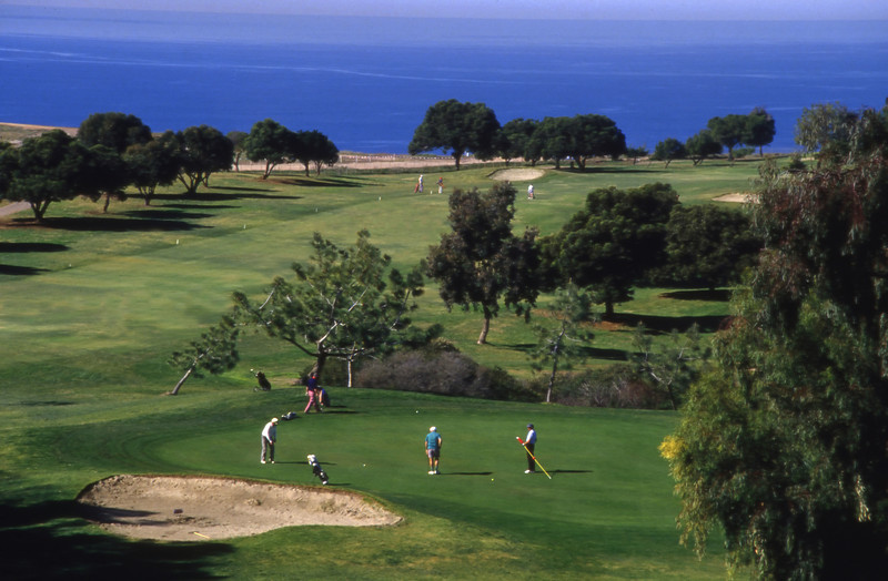 The Torrey Pines South Golf Course, home of the 2008 US Open golf tournament, near San Diego, California.