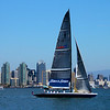 The Stars & Stripes sailboat on San Diego Bay.