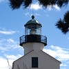 The Old Point Loma Lighthouse, overlooking San Diego Bay, at Cabrillo National Monument.
