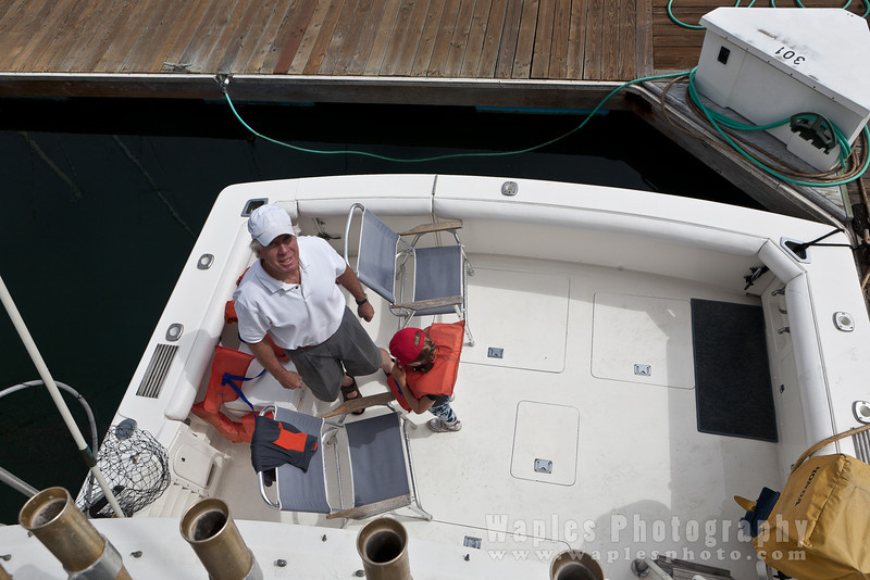 """Herb on his boat """"Branch Office"""""""