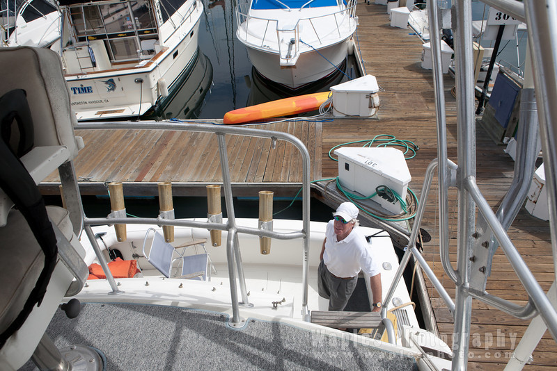 Herb prepping the boat.