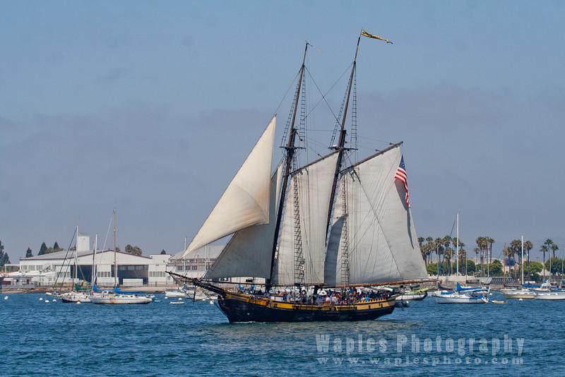 Old sailing ship, Spirit of Dana Point
