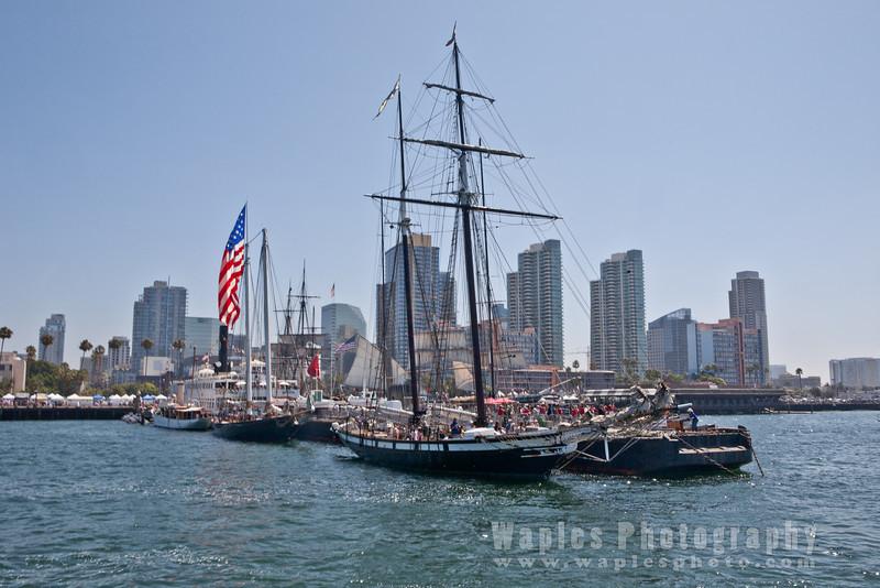 Tall masts and condos