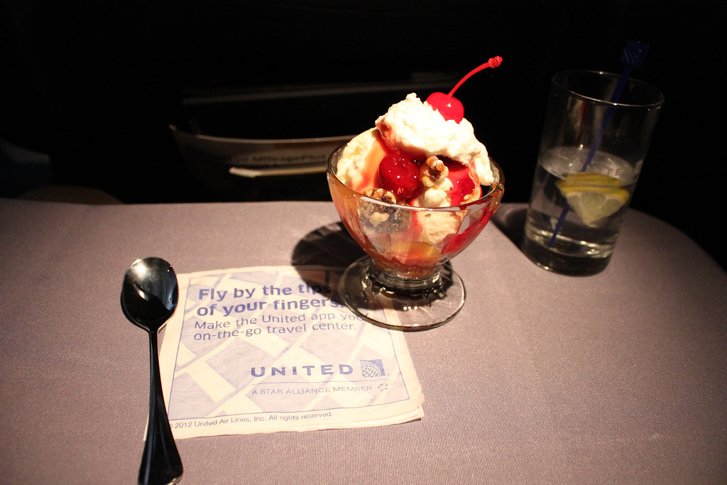 United Airlines transcontinental sundae.