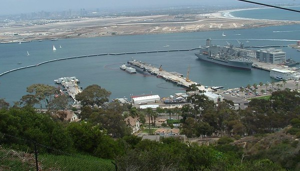 Submarine at Point Loma, 27 Jun 2004