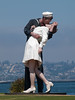 Statue depicting Alfred Eisenstaedt's famous VJ Day photo, near USS Midway Museum