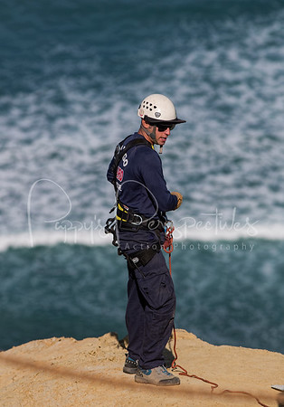 San Diego Lifeguard - Cliff Rescue Training