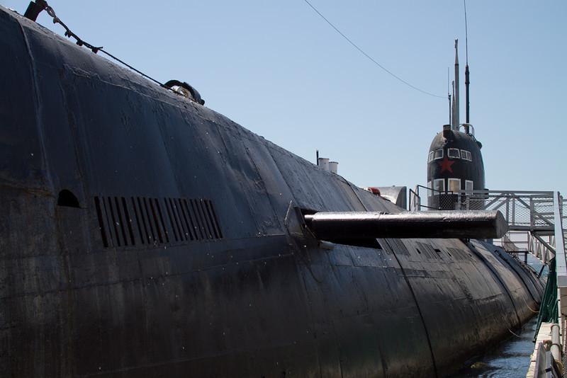 A Soviet Foxtrot class diesel attack submarine.