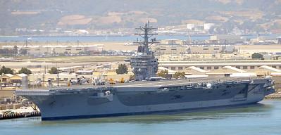 USS Nimitz, peirside at Naval Air Station North Island, San Diego.