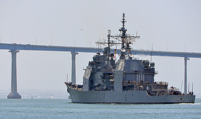 USS Princeton heading home to the 32nd Street Naval Station in San Diego.