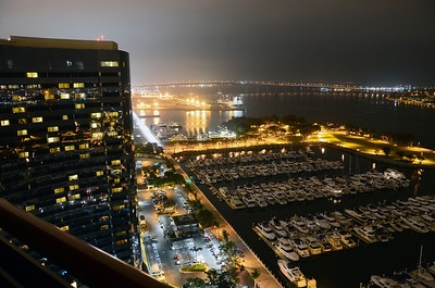 Night view from our room at the Marriott Marquis in San Diego CA.