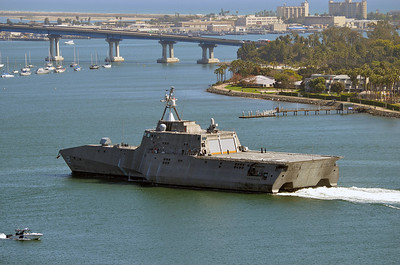 USS Independence (LCS-2) returning to San Diego after exercises off the California coast.